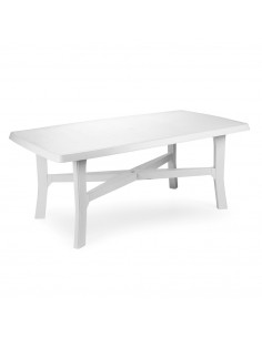 MAFILPLAST Table rectangulaire avec pieds joints blanc 180 x 100 x 72 cm
