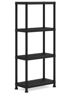 KIS Étagères PVC PLUS SHELF 60/4 60 x 30 x 135 cm Noir