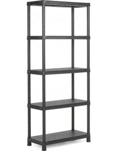KIS Étagères PVC PLUS SHELF 80/5 80 x 40 x 187 cm Noir