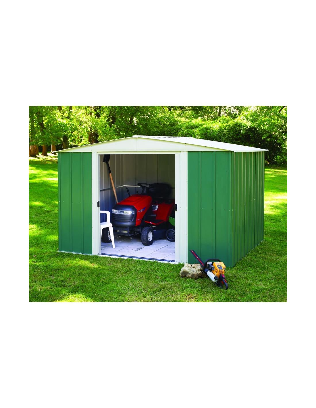 chalet jardin abri m tal rmg10862 vert hyper brico. Black Bedroom Furniture Sets. Home Design Ideas