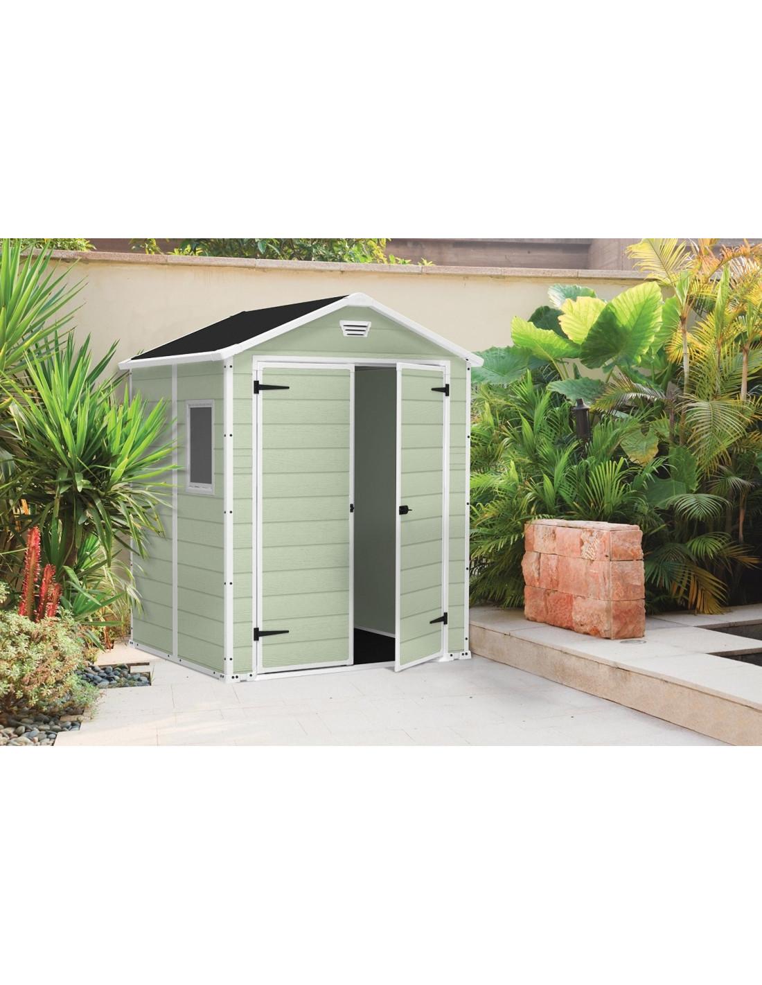 chalet jardin abri r sine premium 65 double porte 2 8m vert hyper brico. Black Bedroom Furniture Sets. Home Design Ideas