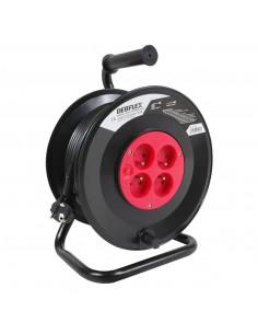 DEBFLEX Enrouleur HO5VV-F 3G1.5 4P+ disjoncteur 40 m Noir
