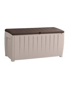 CHALET & JARDIN Coffre de rangement avec assise beige-marron 340L 124 x 55 x 62,5 cm
