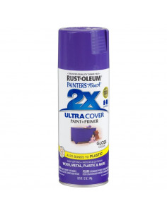 Aérosol primer+paint raisin brillant 12oz