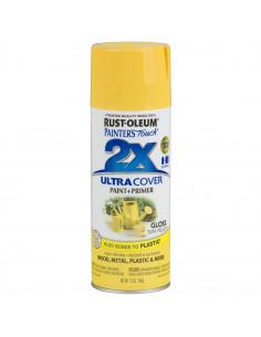Aérosol primer+paint jaune brillant 12oz