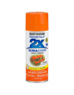Aérosol primer+paint orange brillant 12oz
