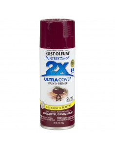 Aérosol primer+paint cranberry brillant 12oz