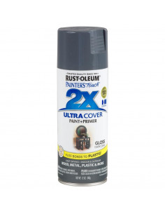Aérosol primer+paint dark gris brillant 12oz