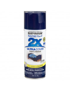 Aérosol primer+paint navy bleu brillant 12oz