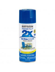 Aérosol primer+paint bleu brillant 12oz