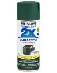 Aérosol primer+paint hunter green semi-brillant 12oz