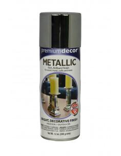 Aérosol peinture laqueur argent métal brillant 12oz