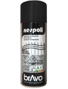 Aérosol peinture effet métallisé noir 400mL