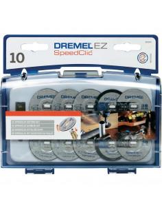 DREMEL Jeu de 10 disques à tronçonner adaptateur EZ speedclic