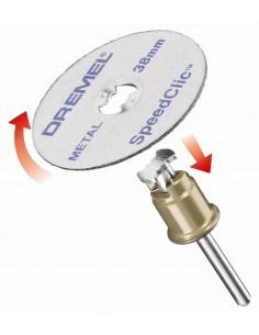 DREMEL Adaptateur EZ speedclic + 2 Disques à tronçonner
