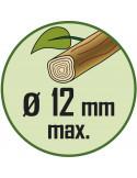 RIBIMEX Sécateur lames courbes 7' (175mm) fushia