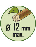 RIBIMEX Sécateur lames courbes 7' (175mm) vert anis