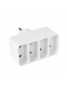 DEBFLEX Quadriplite façade 2P 6 A Blanc