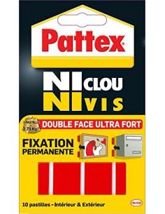 PATTEX Adhésifs 10 Pastilles Fixation 20mm x 40 mm