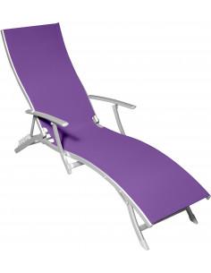 Chaise longue 5 positions mauve