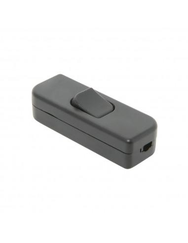 DEBFLEX Interrupteur bifilaire 2 A Noir