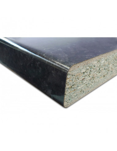supbois plan de travail stratifi 3040x645x38 mm noir brillant hyper brico. Black Bedroom Furniture Sets. Home Design Ideas