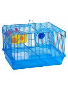 Cage à hamster 38x26x26cm + accessoires