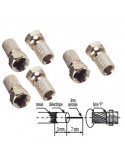 Kyostar 6 connecteurs F à visser