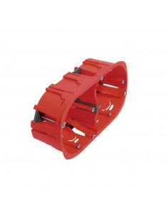 Debflex Boîte d'encastrement cloison sèche 2 postes D67/P40 Rouge