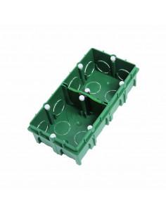 Debflex Boîte d'encastrement de maçonnerie 2 postes 71 x 142/P40 Vert