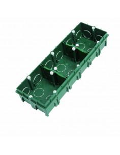 Debflex Boîte d'encastrement de maçonnerie 3 postes 71x213/P40 Vert