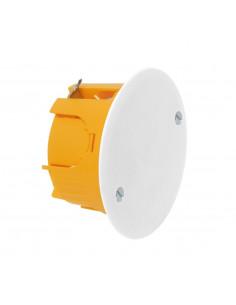 Debflex Boîte d'encastrement cloison sèche avec couvercle D65/P40 Orange