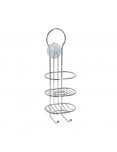 Valet de douche chrome 14x14x40cm