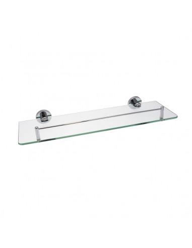 FRANDIS Tablette de salle de bain verre/inox 40,5x16x41cm - HYPER BRICO
