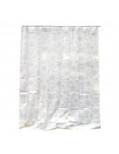 FRANDIS Rideau de douche polyester beige 180x200cm