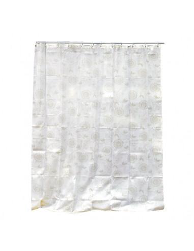 Rideau de douche polyester beige 180x200cm