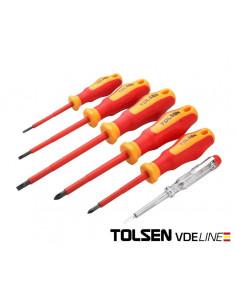 TOLSEN Set 6 tournevis électricien