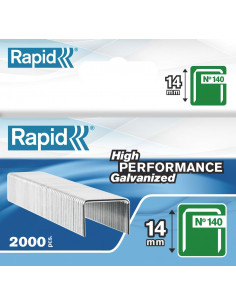 RAPID Agrafes 140/14mm galva bte 2000