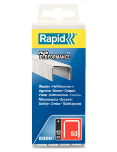 RAPID Agrafes 53/12mm galva bte 5000