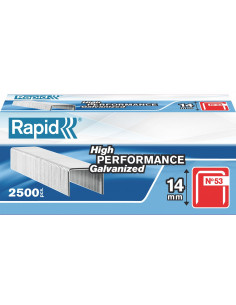 RAPID Agrafes 53/14mm galva bte 2500