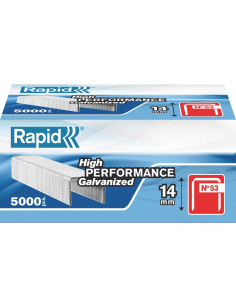 RAPID Agrafes 53/14mm galva bte 5000