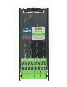 RISS Coffret plastique 8 forets bois
