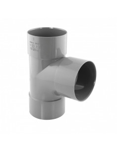 INTERPLAST Culotte PVC 87° femelle / femelle d80 mm NFMe