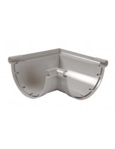 Angle à coller 90° pour gouttière PVC de 33 gris ANC33 (NICOLL)