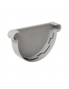 Fond symétrique PVC de gouttière demi-ronde d33 gris FCG33 (NICOLL)
