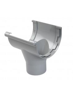 Naissance centrale PVC d100mm gouttière 1/2 ronde de 33 à coller gris NAC33 (NICOLL)