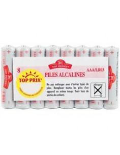 TOP BUDGET Piles alcaline AAA LR03 x8