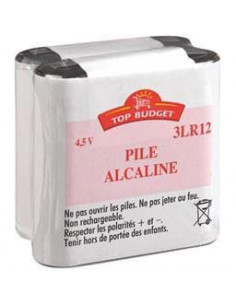 TOP BUDGET Piles alcalines 4.5V 3LR12 x2