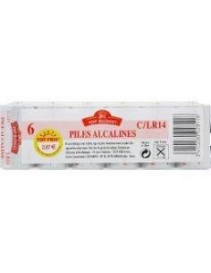 TOP BUDGET Piles alcalines C LR14 x6