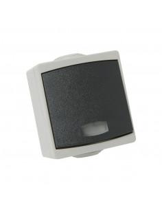 Debflex Perle Bouton poussoir avec voyant IP65 Gris